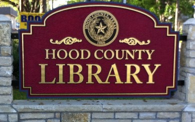 Signage for the Hood County Library